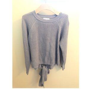 Lovers + Friends gray sweater open back size XS
